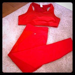 Fabletics bra and pants set